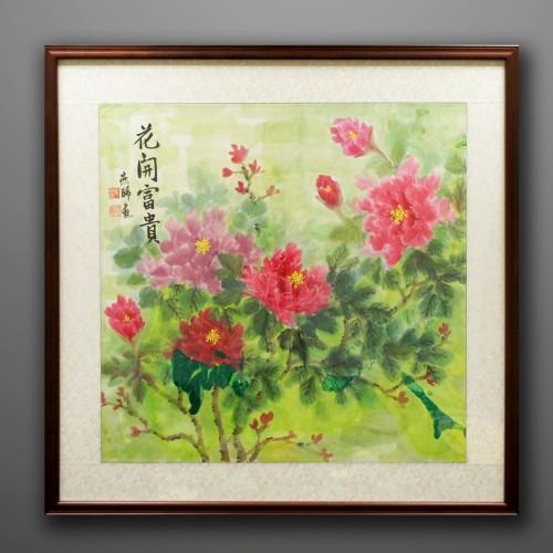 花開富貴牡丹畫