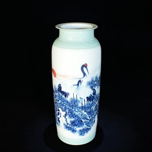 景德鎮-王才喜(王振吾)松鶴延年