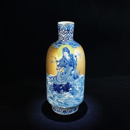 景德鎮-描金觀音瓶
