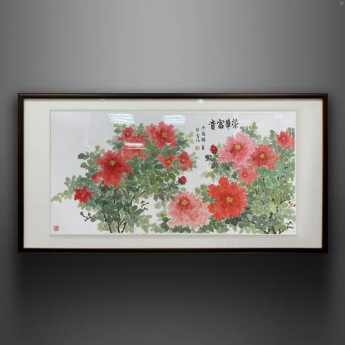 花開富貴福滿堂牡丹畫